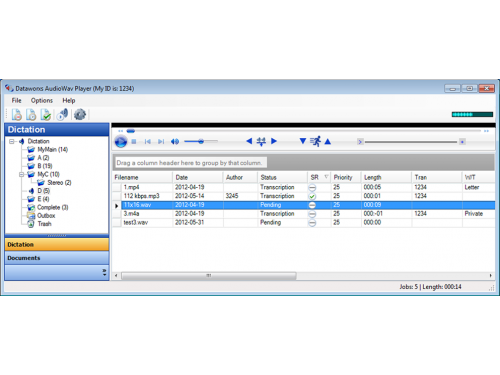 Audiowav Player transcription software