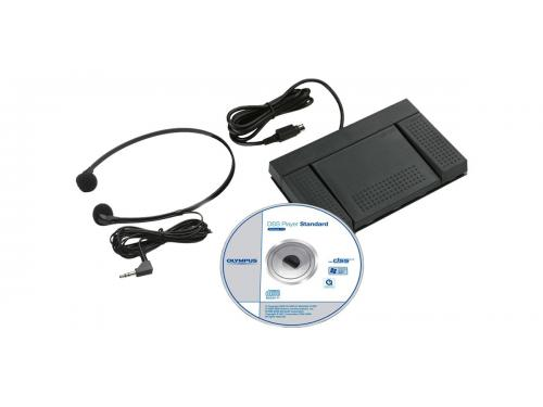 Olympus transcription kit, foot pedal+headset+DSS transcription software - AS2400