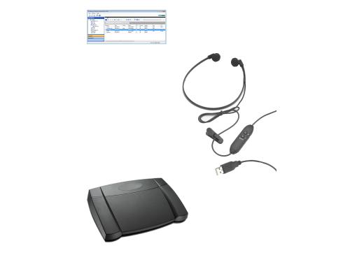 Dataworxs Audiowav Player transcription kit - (headset and footpedal)