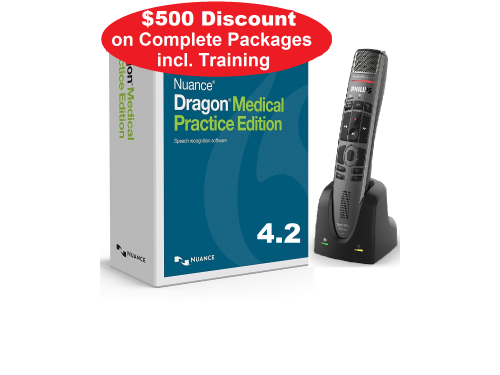 Dragon Medical Practice 4.2, SpeechMike Premium Air with Installation - Complete Package