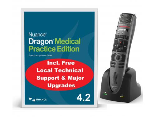 Dragon Medical Practice with SpeechMike Premium Air push button - SMP4000