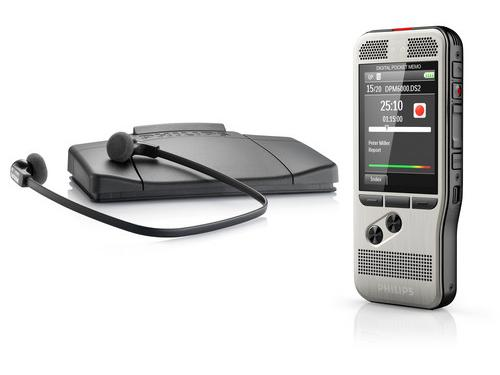 Philips dictation voice recorder with Transcription foot pedal & headset