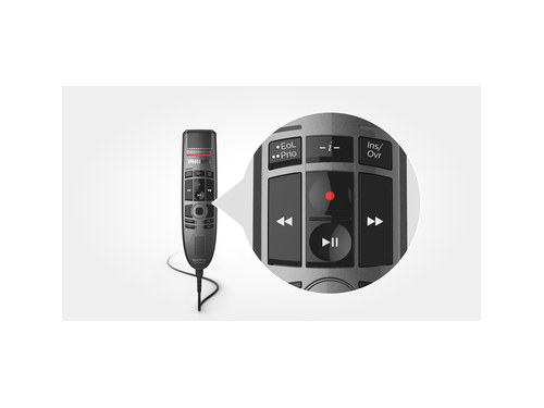 Philips SMP3700 SpeechMike Premium Touch push button control
