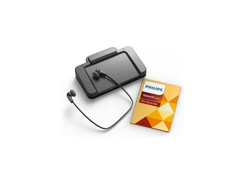 Philips transcription kit with SpeechExec Pro Transcribe Software - LFH7277