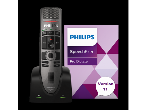 SpeechMike Premium Air Recorder with integrated SpeechExec Pro Dictate software