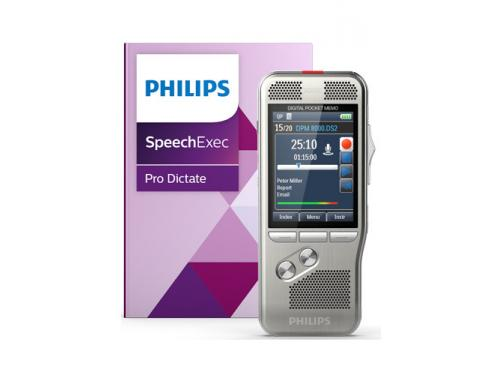 Philips DPM8000 Digital Pocket Memo with integrated SpeechExec Pro + Speech Recognition - PSE8000