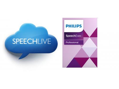 Philips SpeechLive subscription with SpeechExec Pro 10 Speech Recognition