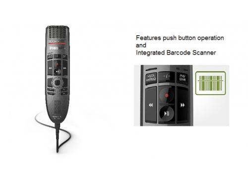 Philips SpeechMike Premium Touch dictation and voice recorder with barcode scanne