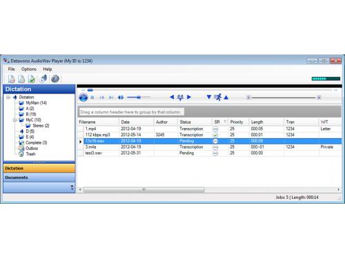 Audiowav Player transcription software